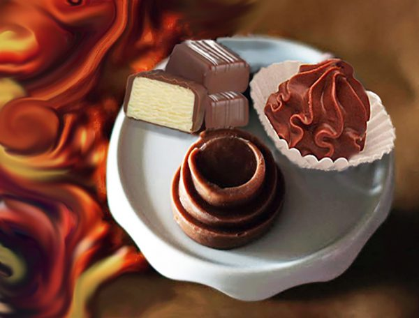 Cashew-Schokolade-Eiskonfekt