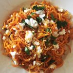 Scharfe Karotten-Zoodles