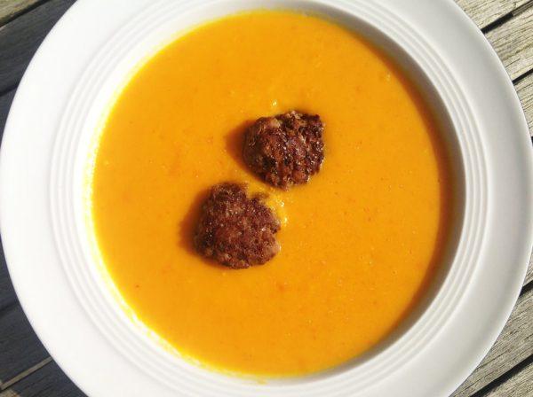 Möhren-Kürbis-Suppe