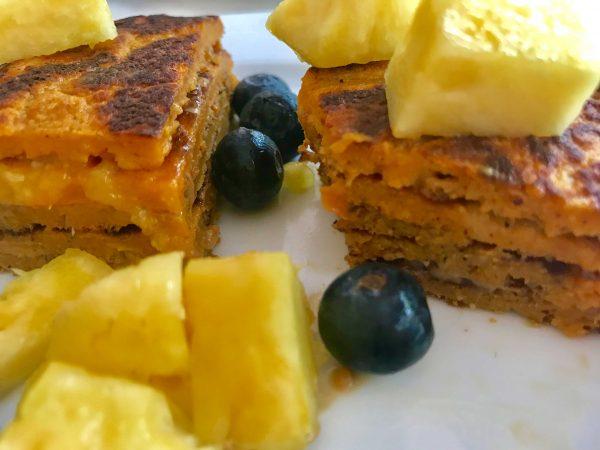 """Traditional """"Baumkuchen"""" Sweet Potato Pancake"""