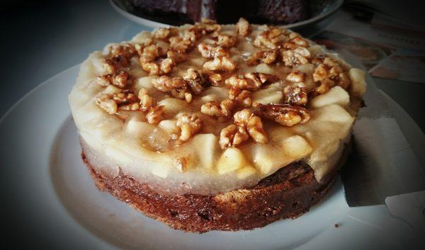 Schoko-Obst-Kuchen ohne Mehl